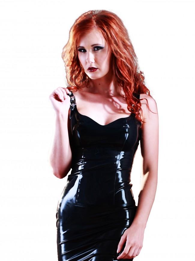 Latex Madam Top Black SR1019_G
