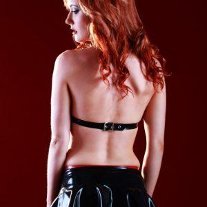 Latex Rubber Cheerleader Skirt SR1116_G
