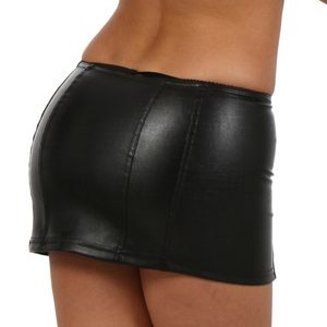 leatherette mini rok 9480-02