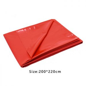 Lef Bed Sheet Cover red