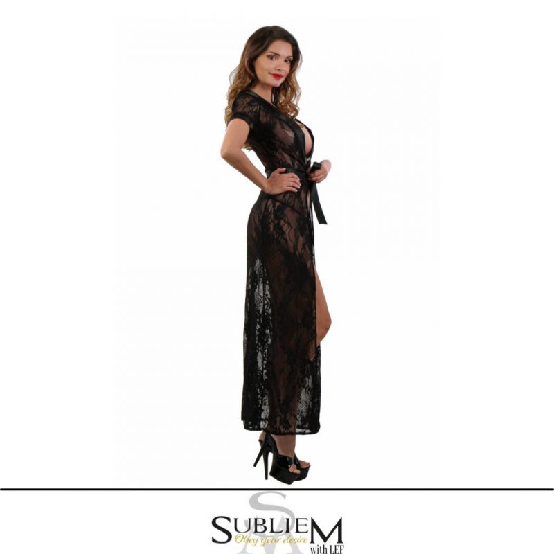 Subliem with Lef negligee